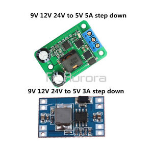 DC-Step-Down-Buck-Converter-Power-Module-24V-12V-9V-to-5V-5A-3A-Replace-LM2596