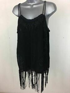 Zara Femme Transparent Noir Spaghetti Sangle