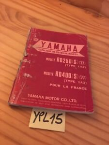 Details about Yamaha parts list RD250 1A2 RD400 1A3 S 1977 catalogue spare  part RD 250 400