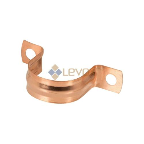 Copper Pipe Saddle Clip Bracket Support Plumbing 15mm 22mm 10pk
