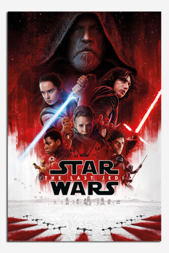 Maxi Size 36 x 24 Inch Star Wars The Last Jedi Official One Sheet Poster New