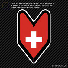 Swiss Driver Badge Sticker Decal wakaba leaf soshinoya Switzerland CHE CH