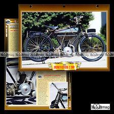 #107.07 Fiche Moto MONET-GOYON 150 Z 2 HP 1924 Classic Bike Motorcycle Card