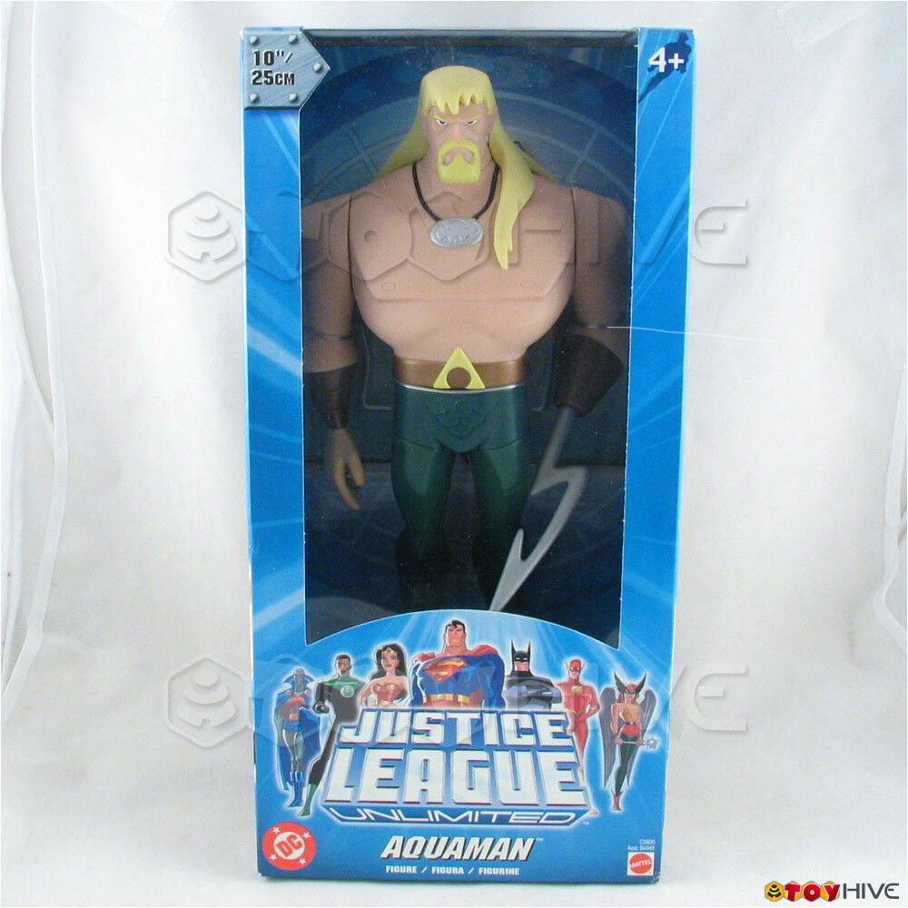 Justice League Unlimited Aquaman 10 inch vinyl figure DC JLU light Blau box