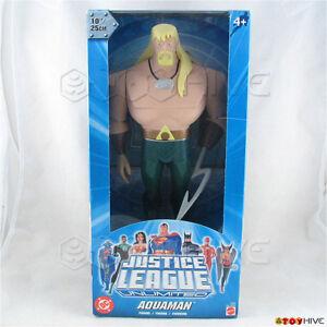 Justice League Unlimited Aquaman 10 Pouce Vinyle Figure Dc Jlu Bleu Clair Box 27084085907