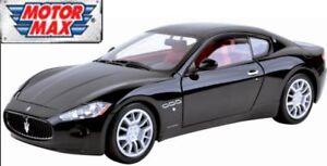 Motormax-1-24-Scale-73361k-Maserati-Gran-Turismo-Black-Diecast-model-car