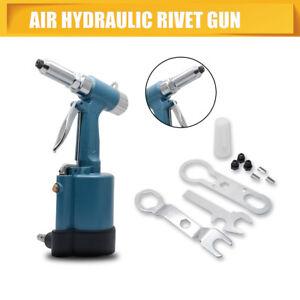 New-Air-Hydraulic-Pop-Rivet-Gun-Pneumatic-Industrial-Metal-Tool-Set-Stock-UK