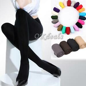 Thick-Women-120D-Footed-Socks-Stockings-Pantyhose-Tights-Opaque