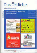 Telefonbuch Das Örtliche 2015/2016 Bad Wildbad Neuenbürg Umgebung
