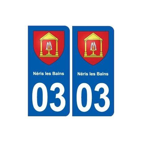 03 Néris-les-bains Blason Ville Autocollant Plaque Stickers - Angles : Arrondis Goede Warmteconservering