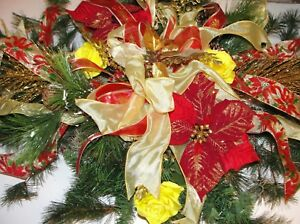 Valentines-Day-Grave-Pillow-Blanket-Yellow-Roses-Gold-Trim-Winter-Pine-3x2-039