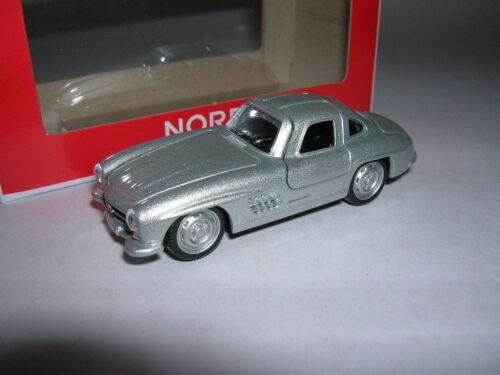 Norev Retro Mercedes-Benz 300 SL 300SL Silver 1:64 3-Inch