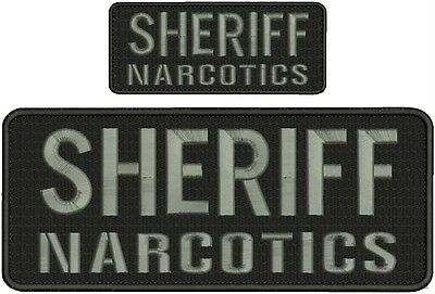 Airport POLICE embroidery patches 4X10 and 2x5 hook  ON BACK  white letters