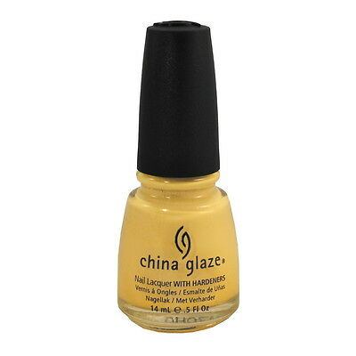 China Glaze Nail Polish Lacquer Lemon Fizz 80941 0.5oz