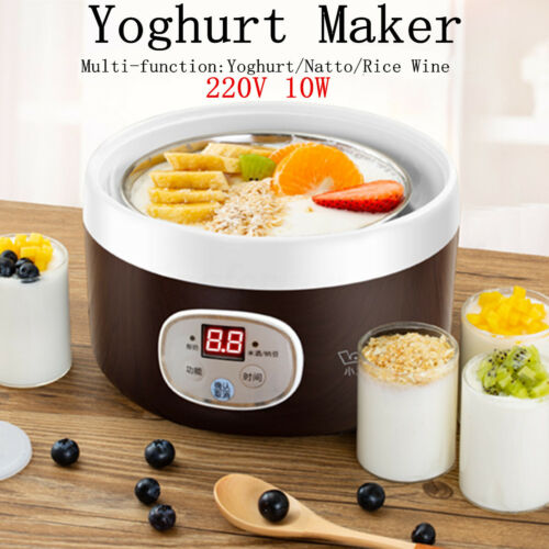 220V 10W Smart Full Automatic Natto Rice Wine Yoghurt Maker Machine LCD Display