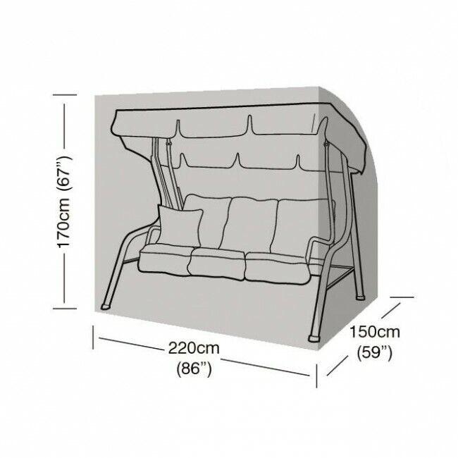 Guirnalda de lujo de 3 asientos W1432 Cubierta de asiento de columpio