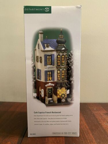 """Details about  /Dept 56 Christmas In The City """"Café Caprice French Restaurant"""" New!"""