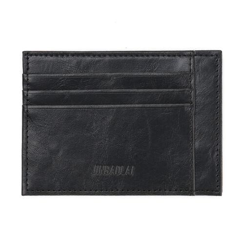 Men Leather Wallet Money Clip Credit Card ID Holder Front Thin Slim Pocket A3J3