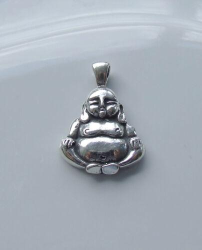 BUDDHA BUDDHIST PENDANT 925 STERLING SILVER