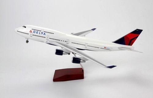 1 150 Con Luz Led Modelo De Avión Boeing 747 Delta Avión Aviones Juguetes Regalo