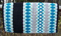 Custom Santa Cruz Show Blanket - 38x34 (black Base/mint, Turquoise, Ash Accents)