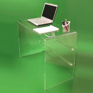 best authentic 17bf6 4f087 Details about Clear Acrylic Plastic Table, Desk, Dressing Table Quality  Made In The UK