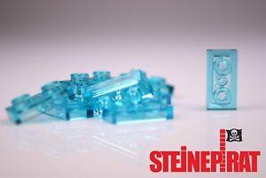 3023 Platten Plate 1X2 transparent Hellblau Light Blue NEU 10X Lego® 6225