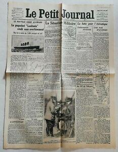 N956-La-Une-Du-Journal-Le-Petit-Journal-9-Mai-1915-lusitania-torpille