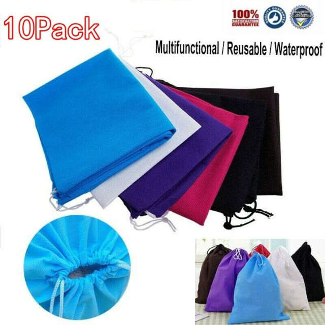 Travel Accessories Shoes Pouch Drawstring Dust-proof Storage Bags Non-woven