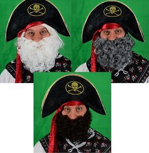 Tre-Barba-Costume-raccogliere-NERO-BIANCO-GRIGIO-UK-SPEDIZIONE