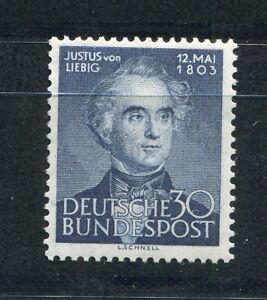 GERMANY-FEDERAL-REPUBLIC-1953-JUSTUS-VON-LIEBIG-695-PERFECT-MNH