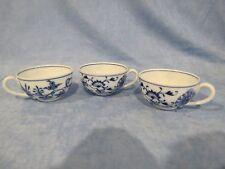 Antique Meissen Oval Mark Blue Onion Set of 3 Demitasse Cups