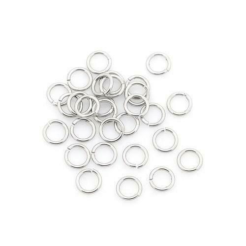 Packet 110 Silver 304 Stainless Steel Round Open Jump Rings 1 x 4mm Y00110