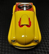Pedal Car 1940s Ford Hot Rod Drag Race Vintage Yellow Dragster Midget Show Model