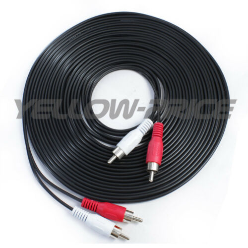 Ultra-Speed Stereo Audio Cable 2RCA Male to 2RCA Male Red /& White RCA Cord Lead