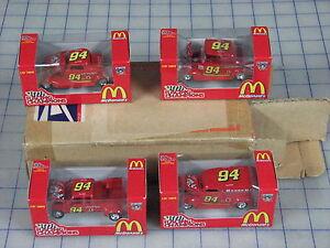 racing-champions-3-25-034-length-red-50th-anniversary-set-of-4-cars-NIP-unused