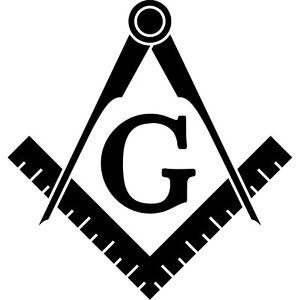 Freemason-Logo-Vinyl-Sticker-Decal-Symbol-Templar-Masonic-Choose-Size-amp-Color