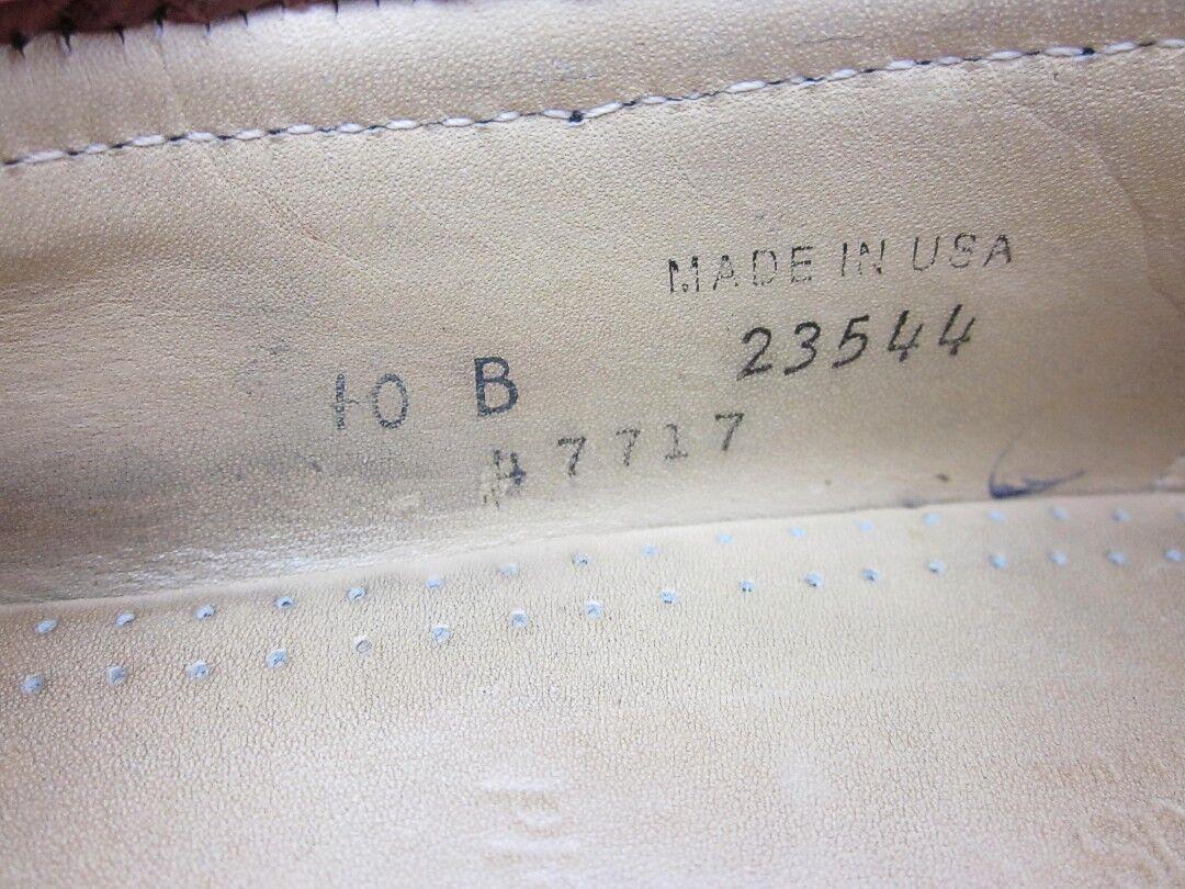 Allen Edmonds Maxfield Tassel Loafer Dress Dress Dress schuhe Burgundy Sz 10B Narrow Width c99926