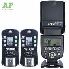 Yongnuo YN-560IV LCD Speedlight + 2pcs Wireless Flash Trigger RF-605C for Canon