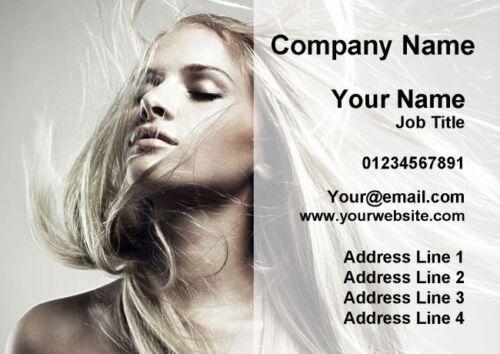 Les cheveux mobile salon de coiffure cartes de visite personnalisées
