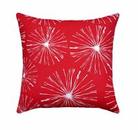 Sparks Lipstick Red Pillow, Red And White Accent Pillow, Red Accent Throw Pillow