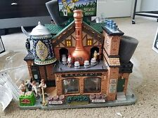 Lemax YULESTEINER BREWERY Village Collection German Octoberfest House w/ Sounds