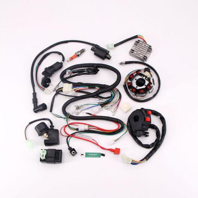 SUNDELY/® Full Wiring Harness Loom Solenoid Coil Regulator CDI 150cc Chinese ATV Quad Bike