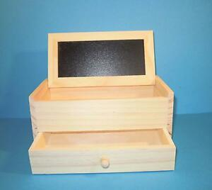 schmuckkasten box mit schublade holz ebay. Black Bedroom Furniture Sets. Home Design Ideas