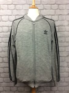 af248d134d0a0d ADIDAS ORIGINALS MENS UK L GREY BLACK SUPERSTAR KNIT TRACK TOP ...