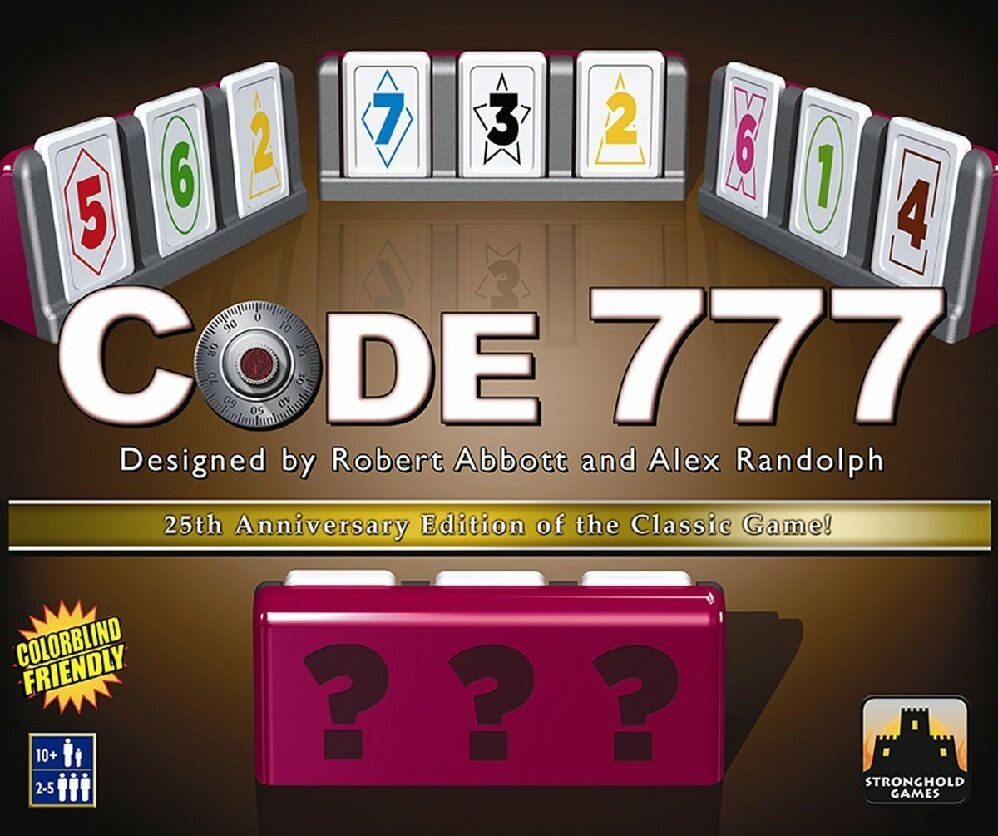 Code 777 - 25TH Anniversary Deluxe Edition by Stronghold Games NEW