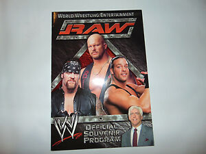 "NEW 2002 WWE Official Souvenir Program 13"" 2 COVERS Entertainment RAW SMACKDOWN"
