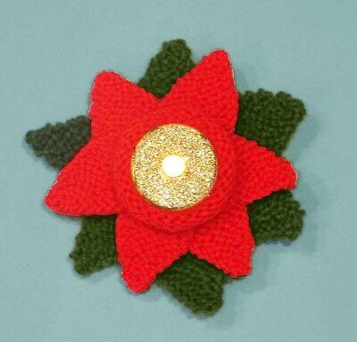 Knitting Pattern-Noël Robin Tea Light Holder-Grande Nouveauté//Charity