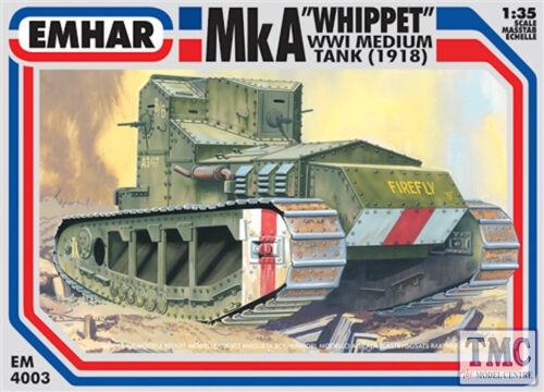 """PKEM 4003 EMHAR échelle 1:35 Mk A /""""Whippet/"""" WWI Medium Tank"""