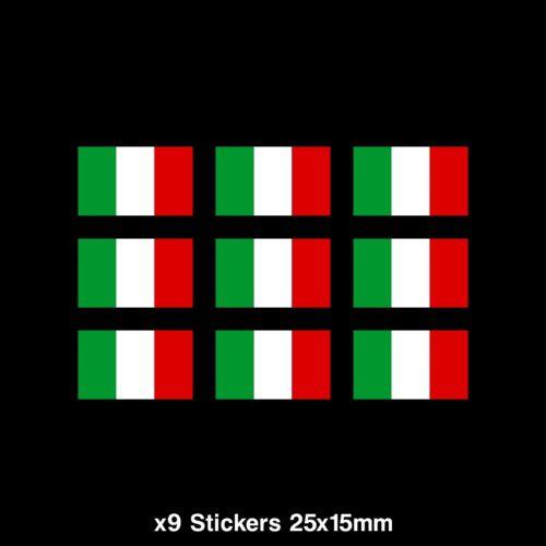 Laptop Vinyl Car 9x Italy Italian Flag Sticker PC Ipad CC041 Van